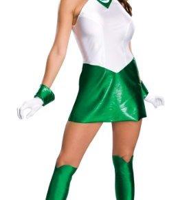 Desconocido Disfraz de Linterna Verde para mujer