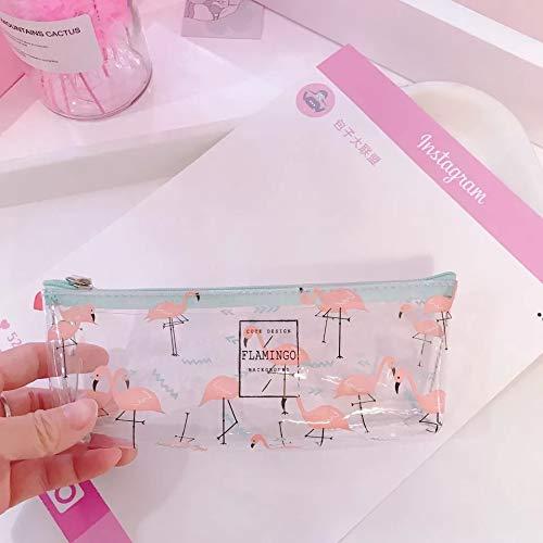 ASCZFAS Kawai Flamingo Pencil Cases Cute Unicorn Trasparente Pencilcase Pencil Box Pen Bags For...