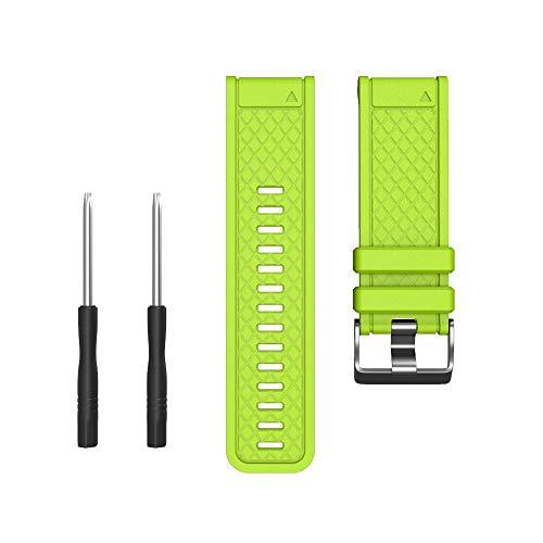 Cinnamou Fashion luxury Compatibile con Garmin Fenix   / Fenix   2 Band Easy Fit cinturino in silicone morbido largo 26mm