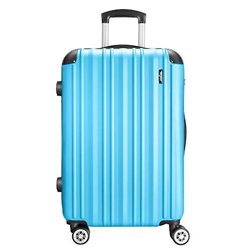 Amasava Valigia rigida, valigie, valigia trolley medio, 75 cm, 101 litri, lucchetto TSA, 4 ruote...