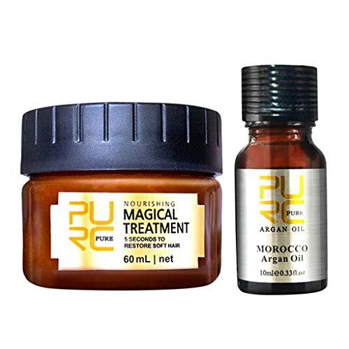 Oksea Glattes Haar Conditioner Mask Haarpflege Magical Hair Treatment 5 Sekunden für repariert Schaden Haarwurzel Geschenk Sets (mehrfarbig)