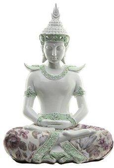 Decorativo floral iluminación–Figura decorativa de Buda, altura: 26cm, ancho: 18cm), profundidad 14cm