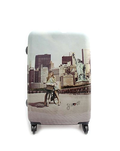 TROLLEY YNOT YES LUGGAGE MEDIUM SIZE SPINNER J-1002 NEW YORK