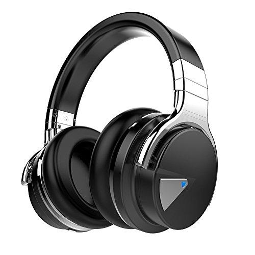COWIN E7 Cuffie Active Noise Cancelling Bluetooth  4.0 Headphones - Auricolari Over-Ear Wireless con Microfono, Tempo di Riproduzione di 30 ore, legger