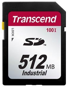 Transcend 512MB SD100I 0.512GB SD SLC memoria flash - Tarjeta de memoria (0,512 GB, SD, SLC, 17 MB/s, Negro)