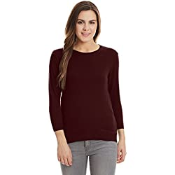 United Colors of Benetton Women's Cotton Sports Knitwear (16A1092D610AIA16L_Fig)