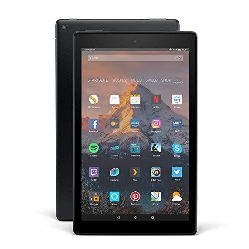 Fire HD 10-Tablet, 1080p Full HD-Display, 32 GB, Schwarz, mit Spezialangeboten (vorherige Generation - 7.)