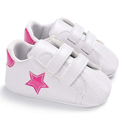 Scarpe da culla per bambini Sneakers da bambino Prewalker per neonati a forma di stella premium per neonati appena nati (Color : Pink, Size : 3-6 Months)
