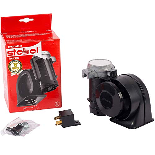 OSHOTTO Stebel Nautilus Compact Twin Air Horn Universal for Cars, Trucks, Boats, ATVS, Motorcycles and Scooters-NSKU-592