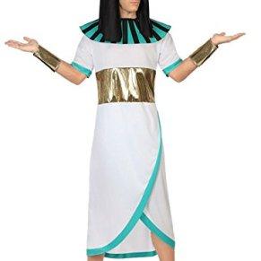 Atosa-26617 Disfraz Faraón, color blanco, M-L (26617)