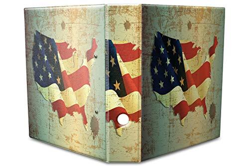 Motiv Akten Ordner Bedruckt 60mm DIN A4 Flagge USA