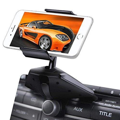 Ipow Universal One Touch Installation CD Slot Smartphone Car Mount Holder Cradle for iPhone 6 Plus 6 5S 5,iPod Touch,Samsung Galaxy S5 S4 Note 2/3,Nexus 5,HTC,LG G3&GPS Devices,Black (cd car mount)