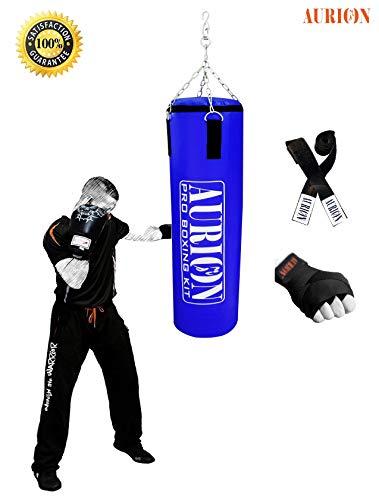 AURION SRF Unfilled 36 Handrap Punching Bag, 36-Inch, Blue