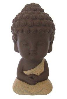 LU2000Collections Mini mesa para Estatua de Buda de meditación Décor Belle Mignon monje niño rojo en porcelana en figura (aprox.) 10,2cm–rojo claro