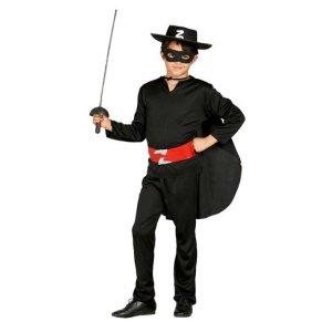 Guirca Disfraz de Zorro, bando, color negro, 5/6 años, 78701