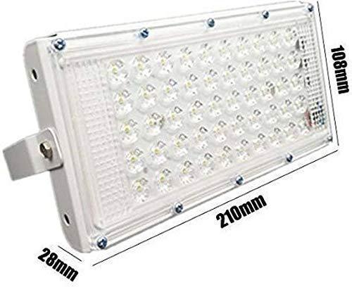 DesiDiya New High Power led 50watt LED watt Ultra Thin Slim IP66 IP6667/50 LED Flood Outdoor Light Cool White Waterproof (Pack of 1)