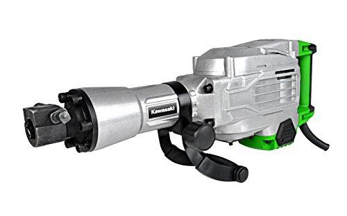 Kawasaki Abbruchhammer, 1700 Watt, 50 Joule Schlagkraft, Schlagzahl: 2000 1/min, inklusive Flach- und Spitzmeißel