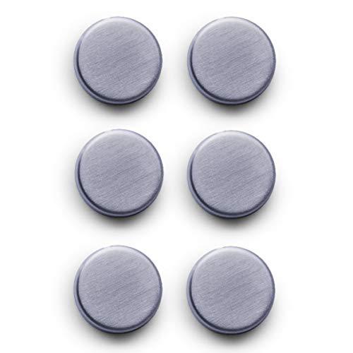 Zeller 11203 Set di Magneti, Extra Forti, Stainless Steel, Argento, 0.1x2.7x0.8 cm 6 unità