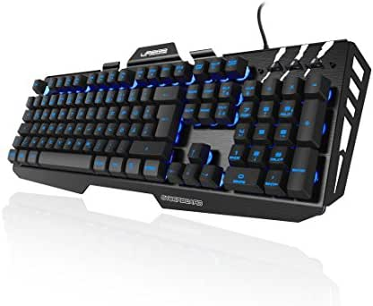 uRage RGB-Gaming-Keyboard beleuchtet (Metall, LED, Multimedia Keys, Anti-Ghosting, QWERTZ deutsches Tastaturlayout, 1,6m USB Kabel) Gaming Tastatur schwarz