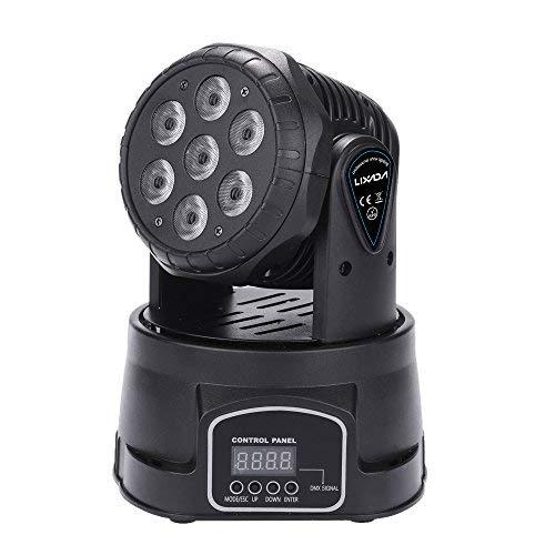 Lixada 7LED 105W RGBW 9/14 Canali DMX512 Mini Rotante a Testa Mobile Fase Lampada Effetto Luce per...