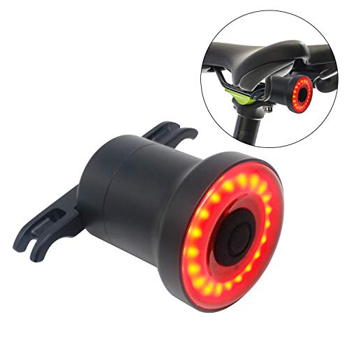 Fanale Posteriore Bike - Ultra Luminoso - Smart Sensore LED Ricaricabile Resistente all'acqua - Spia...
