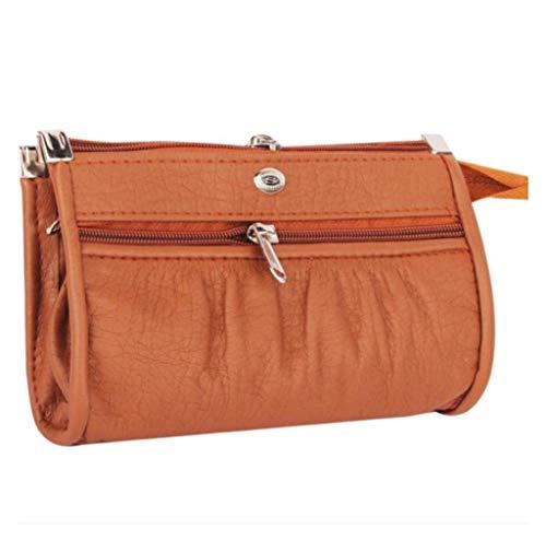 Talat Fashion PU Leather Stylish Wallet/Clutch/Purse for Women & Girls (Tan)