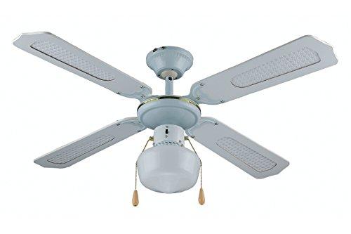Kooper Ventilatore da soffitto con 4 Pale, 106 cm, Bianco 60 W