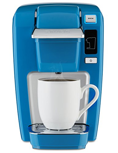 Keurig K15 Single Serve Compact K-Cup Pod Coffee Maker, True Blue