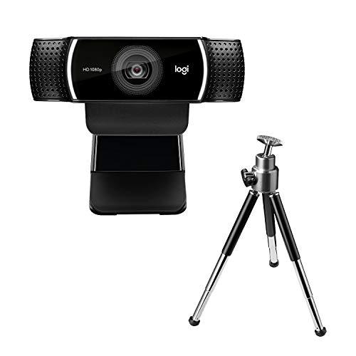 Logitech C922 Pro Stream Webcam, Streaming Full HD 1080p con Treppiede e Licenza XSplit Gratuita di 3 Mesi, Nero