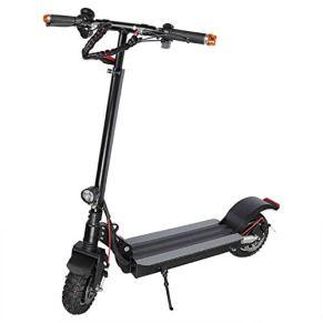 Scooter eléctrico Plegable Diseño Ligero portátil 500 W Alta Potencia Velocidad máxima 12 mph, 25 Millas Scooter de batería de Largo Alcance Negro