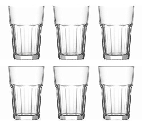 takestop Bicchieri Bicchiere 315ML 6 Pezzi in Vetro Trasparente da TAVOLA Mojito Cocktail Long Drink...