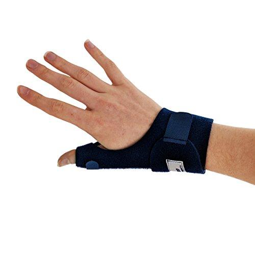 Actesso Bleu Daumenschiene daumen bandage. Daumen orthese für Zerrung und Verstauchung des daumens, De Quervain und Sehnenscheidenentzündung - Einheitsgröße Links oder Rechts (Rechts)