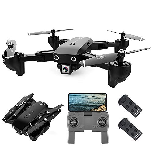 Goolsky CSJ S166 GPS Drone con Fotocamera 1080P Seguimi Ritorno Automatico Home WiFi FPV Foto di gesti Live Video RC Quadcopter per Adulti