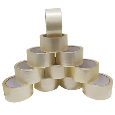 Klebeband-Paketklebeband-66m-x-48mm-transparent-Braun-Paketband-Kleberolle