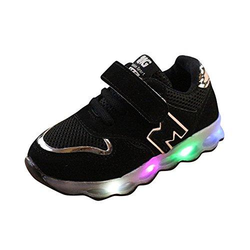 Ginli scarpe bambino,Scarpe Primi Passi Scarpine Neonato Sneakers Bambino Scarpe LED Bambini Toddler Kids Mesh Shoes Bambini Baby Shoes LED Light Up Sneakers Luminose