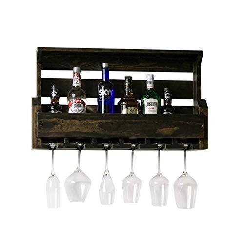 Bagno scaffale portabottiglie Retro cremagliera del vino di legno solido della cucina del...