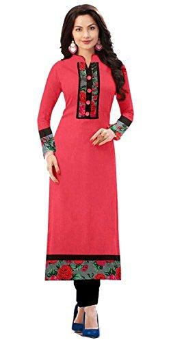 Rhythm Women'S Cotton Pink Kurta (Kurtis For Women_Free Size)