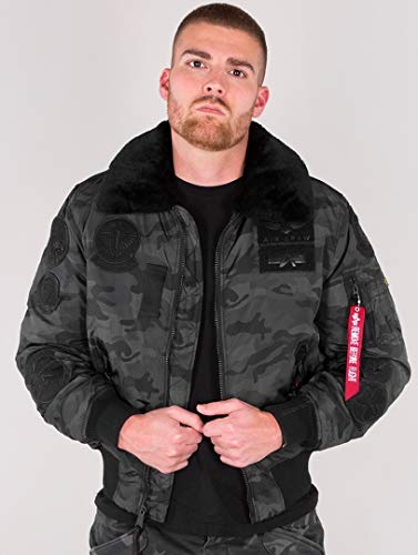 Alpha Industries Uomo Giacche/Giubbotto Bomber Injector III Patch