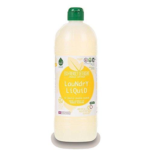 BIOLU - Detergente para ropa - Flor de naranja - Ecológico - Mano y máquina - Blanco y coloreado - Activo ya a baja temperatura - Probado dermatológicamente - Bio y Vegano - 1 L