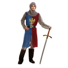 My Other Me Me-202791 Disfraz de caballero medieval para hombre, color azul y granate, S (Viving Costumes 202791)