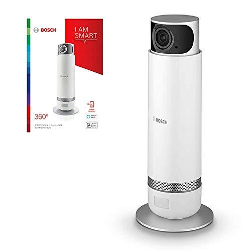 Caméra intérieure de vidéo surveillance connectée Bosch - Smart Home 360° (Pilotable et orientable par Smartphone, WIFI, Résolution HD 1080p, fonction vie privée, 230V)