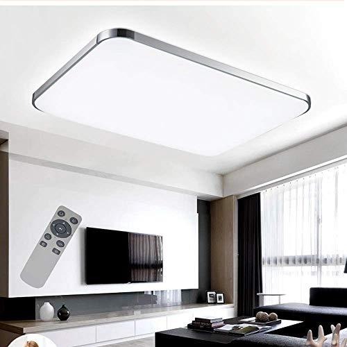 COOSNUG 72W Dimmbar Ultraslim LED Deckenleuchte Modern Deckenlampe Schlafzimmer Küche Flur Wohnzimmer Lampe 3000-6500K