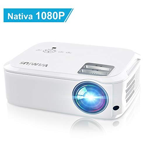 Videoproiettore,WiMiUS 5500 Lumen Nativa 1080P LED Proiettore Full HD Con 300'' Display Supporto 4K...
