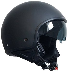 Jethelm Helm Motorradhelm Rollerhelm mit Sonnenblende Chopper RALLOX 710 schwarz/matt S, M, L, XL, XXL 3
