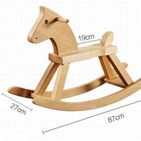 Juguete de madera para caballito de balancín Marrón Niño Bebé Caballo Al aire libre Rocker Animal Ride Juguete de mecedora para niño de 1-3 años A