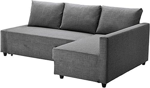 Il grigio scuro Friheten cotone spesso copridivano ricambio realizzata su misura per Ikea Friheten divano letto, o ad angolo, o biglietti divisori. Copridivano solo. Light Gray Longer Left Arm