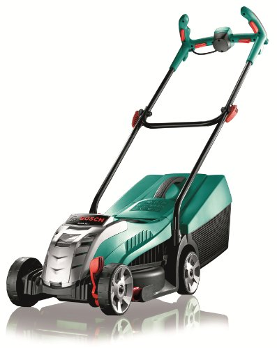 Bosch Rotak 32 Cordless Lawnmower LI High Power (battery, charger, 31-litre grass box -0 Overall its small and compact making it perfect for smaller gardens. It also comes with 3 years warranty if you register online so its well worth doing for peace of mind.