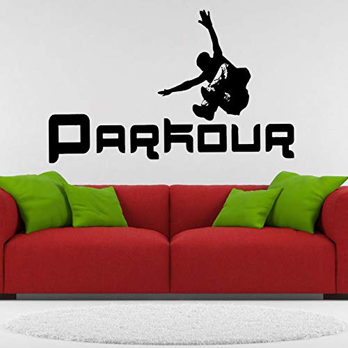 SLQUIET Adesivi murali Parkour Fai da Te Street Sport Vinile Decalcomanie Cool Teen Room Decor...