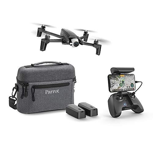 Parrot Anafi Extended Drone con 2 Batterie Aggiuntive, Borsa da Trasporto ed Eliche Aggiuntive, Videocamera HDR 4K con Gimbal con Inclinazione a 180°, Nero
