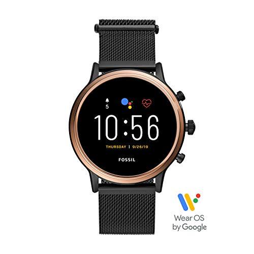 Fossil Damen Digital Touchscreen Gen.5 Smart Watch mit Stainless Steel Armband, FTW6036
